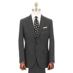 ビジネススーツ/メンズ/秋冬/3つボタンスーツ マイクロパターン TR-16 チャコールグレー|uktsc