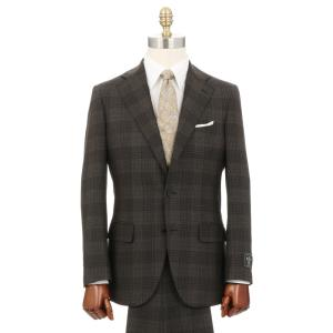 ビジネススーツ/メンズ/秋冬/3つボタンスーツ チェック TR-16 ブラウン×ブラック|uktsc
