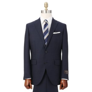 ビジネススーツ/メンズ/秋冬/2つボタンスーツ シャークスキン CH-14 ネイビー×ブルー|uktsc