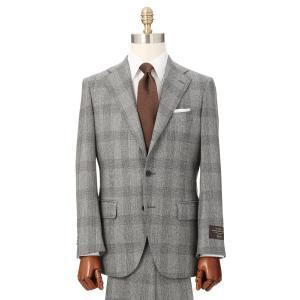 ビジネススーツ/メンズ/秋冬/3つボタンスーツ グレンチェック TR-16 ライトグレー×ブラック|uktsc