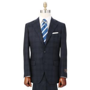 ビジネススーツ/メンズ/秋冬/3つボタンスーツ グレンチェック TR-16 ダークネイビー×ブラック×サックスブルー|uktsc