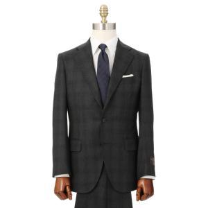 ビジネススーツ/メンズ/秋冬/3つボタンスーツ グレンチェック TR-16 チャコールグレー×ブラック×ライトグレー|uktsc