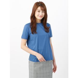 カットソー/レディース/Littlechic/ギザリヨセルスムース半袖クルーネックTシャツ ブルー|uktsc