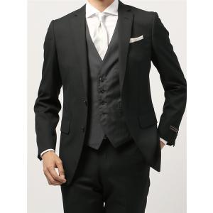スーツ/メンズ/通年/FORMAL/CERIMONIA/リバーシブルジレ付き・スリーピーススーツ/ NR-04 ブラック|uktsc