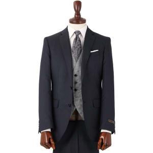 スーツ/メンズ/通年/FORMAL/CERIMONIA/リバーシブルジレ付き・スリーピーススーツ/NR-04 ネイビー×ライトグレー|uktsc