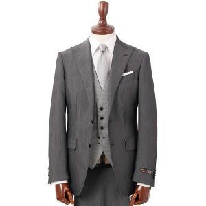スーツ/メンズ/通年/FORMAL/CERIMONIA/ /リバーシブルジレ付き・スリーピーススーツ/ NR-04 グレー|uktsc