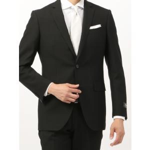 ビジネススーツ/メンズ/通年/FORMAL/CERIMONIA/アドバンス 2つボタンスーツ 無地 NR-04 ブラック|uktsc