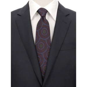 ネクタイ/レギュラータイ/メンズ/ADAMLEY別注/パターン柄ネクタイ ネイビー系|uktsc
