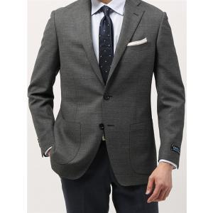 ビジネスジャケット/メンズ/春夏/ウォッシャブル・COOL MAX/WE SUIT YOU/ウールメッシュジャケット ミディアムグレー×ライトグレー uktsc