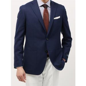 ビジネスジャケット/メンズ/春夏/ウォッシャブル・COOL MAX/WE SUIT YOU/ウールメッシュジャケット ネイビー×ブルー uktsc