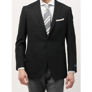 ビジネスジャケット/メンズ/春夏/ウォッシャブル・COOL MAX/WE SUIT YOU/ウールメッシュジャケット ブラック×チャコールグレー uktsc