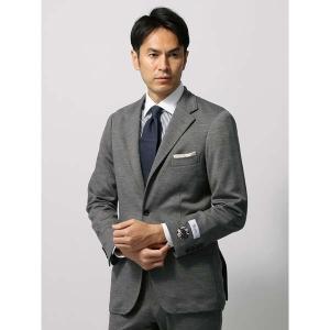 ビジネスジャケット/メンズ/秋冬/ウールポンチジャージージャケット/Fabric by REDA/ ミディアムグレー|uktsc