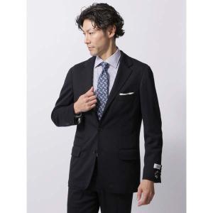 ビジネスジャケット/メンズ/秋冬/ウールポンチジャージージャケット/Fabric by REDA/ ネイビー|uktsc
