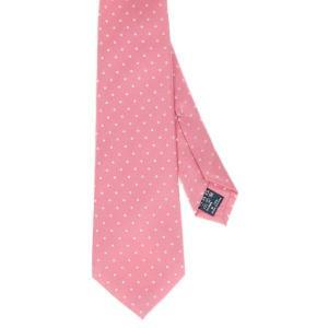 ネクタイ/レギュラータイ/メンズ/セッテピエゲ/ドット×織柄ネクタイ ピンク系|uktsc