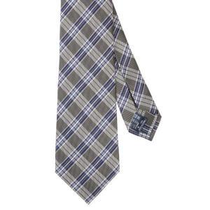 ネクタイ/レギュラータイ/メンズ/セッテピエゲ/チェック柄ネクタイ グレー系|uktsc