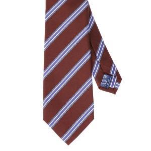 ネクタイ/レギュラータイ/メンズ/セッテピエゲ/ストライプ柄ネクタイ レッド系 uktsc
