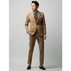 ビジネスジャケット/メンズ/春夏/ETONNE/コットンブレンドストレッチツイルジャケット/Fabric by Riopele/ ベージュ|uktsc