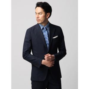 ビジネスジャケット/メンズ/春夏/ETONNE/コットンビスコース ジャケット/Fabric by MANNELLI/ ネイビー|uktsc