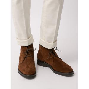 ブーツ/シューズ/メンズ/BARNI/キップスウェードチャッカ―ブーツ ブラウン|uktsc