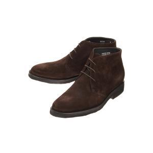 ブーツ/シューズ/メンズ/BARNI/キップスウェードチャッカ―ブーツ ダークブラウン|uktsc