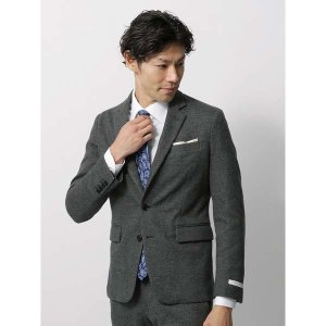 ビジネスジャケット/メンズ/秋冬/WE SUIT YOU/JAPAN QUALITY/ウールコットン ジャージージャケット ミディアムグレー|uktsc