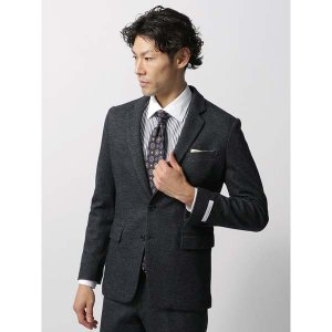 ビジネスジャケット/メンズ/秋冬/WE SUIT YOU/JAPAN QUALITY/ウールコットン ジャージージャケット ネイビー|uktsc
