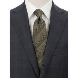 ネクタイ/レギュラータイ/メンズ/Daniel/ストライプ×織柄ネクタイ グリーン系 uktsc