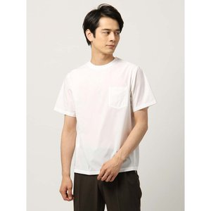 カットソー/メンズ/DESCENTE別注/ポリエステルストレッチ 半袖クルーネックTシャツ ホワイト uktsc