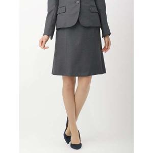 スーツ/レディース/セットアップ/通年/SUPER110'sウール マイクロチェック柄フレアスカート/Fabric by REDA/ チャコールグレー×ブルー|uktsc