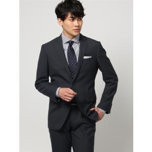 ビジネススーツ/メンズ/秋冬/WEB限定/ツーパンツ/アドバンス 2つボタンスーツ ピンヘッド NR-04 ネイビー×ブルー uktsc
