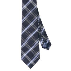 ネクタイ/レギュラータイ/メンズ/チェック柄ネクタイ ネイビー系|uktsc