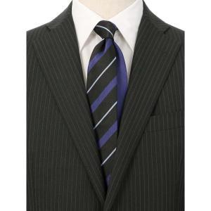 ネクタイ/レギュラータイ/メンズ/ストライプ×織柄クレリックネクタイ ブラック系|uktsc