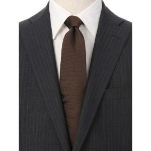 ネクタイ/レギュラータイ/メンズ/ドット×織柄ネクタイ/Fabric by ITALY/ ブラウン系|uktsc
