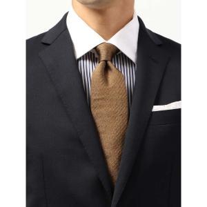 ネクタイ/レギュラータイ/メンズ/ヘリンボーン柄ネクタイ/Fabric by ITALY/ ブラウン系|uktsc