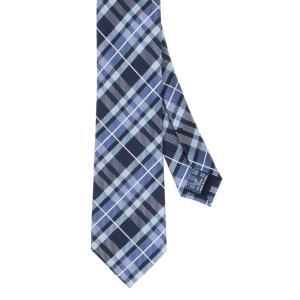 ネクタイ/ナロータイ/メンズ/チェック×織柄ナロータイ ネイビー系|uktsc