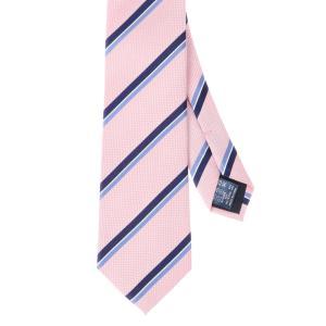 ネクタイ/レギュラータイ/メンズ/ストライプ×織柄ネクタイ ピンク系|uktsc