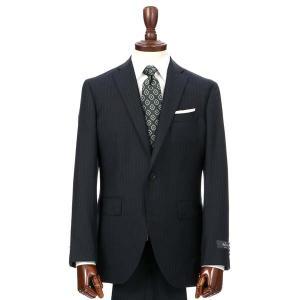 スーツ/メンズ/秋冬/HAND MADE/2つボタンスーツ ストライプ CH-14 ネイビー×ライトグレー|uktsc