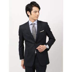 スーツ/メンズ/秋冬/ツーパンツ/クラシック 2つボタンスーツ マイクロパターン IZ-01 ネイビー|uktsc