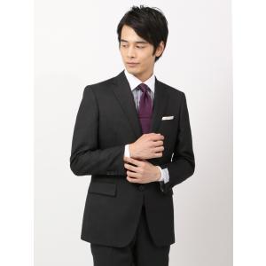 スーツ/メンズ/秋冬/ツーパンツ/クラシック 2つボタンスーツ マイクロパターン IZ-01 チャコールグレー|uktsc