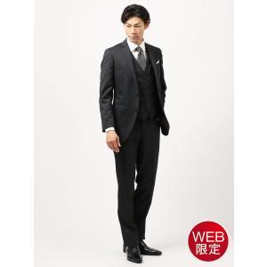 スーツ/メンズ/秋冬/WEB限定/スリーピース/アドバンス 2つボタンスーツ ヘリンボーン NR-04 ダークネイビー|uktsc