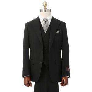 3ピーススーツ/メンズ/通年/スリーピース/3つボタンスーツ 無地 TR-02 ブラック uktsc