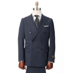 ビジネススーツ/メンズ/秋冬/HAND MADE/ダブルブレストスーツ 無地 TR-17 ブルー|uktsc