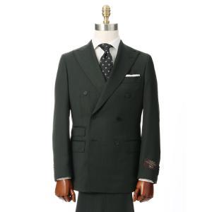ビジネススーツ/メンズ/秋冬/HAND MADE/ダブルブレストスーツ 無地 TR-17 カーキ|uktsc