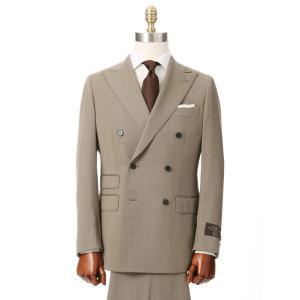 ビジネススーツ/メンズ/秋冬/HAND MADE/ダブルブレストスーツ 無地 TR-17 ベージュ|uktsc