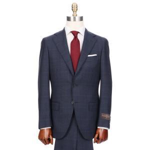 ビジネススーツ/メンズ/秋冬/HAND MADE/3つボタンスーツ グレンチェック TR-16 ブルー×ブラック×レッド|uktsc