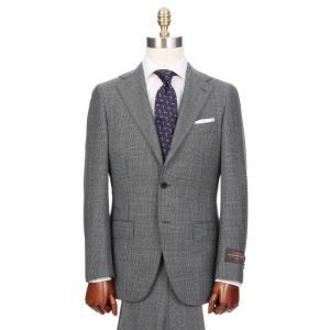 ビジネススーツ/メンズ/秋冬/HAND MADE/3つボタンスーツ グレンチェック TR-16 ミディアムグレー×ブラック×レッド|uktsc