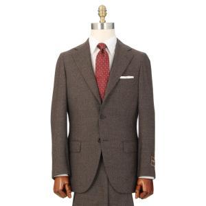 ビジネススーツ/メンズ/秋冬/HAND MADE/3つボタンスーツ 織柄 TR-16 ブラウン×ブラック×ホワイト|uktsc
