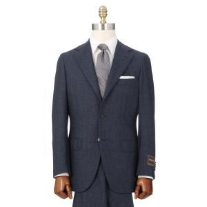 ビジネススーツ/メンズ/秋冬/HAND MADE/3つボタンスーツ 織柄 TR-16 ネイビー×ブルー×ライトグレー|uktsc