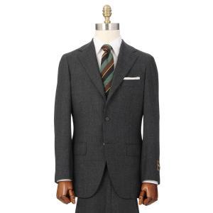 ビジネススーツ/メンズ/秋冬/HAND MADE/3つボタンスーツ 織柄 TR-16 チャコールグレー×ライトグレー|uktsc