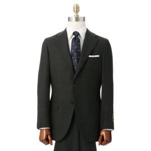 ビジネススーツ/メンズ/秋冬/HAND MADE/3つボタンスーツ ハウンドトゥース TR-16 カーキ×ブラック|uktsc